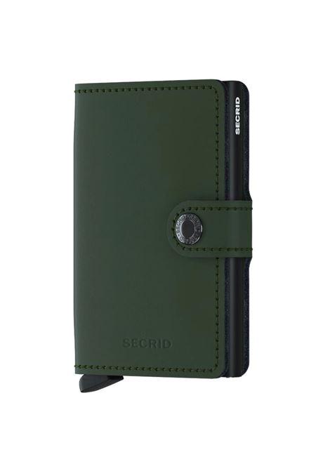 Secrid miniwallet matte green black SECRID | Portafogli | MATTE3
