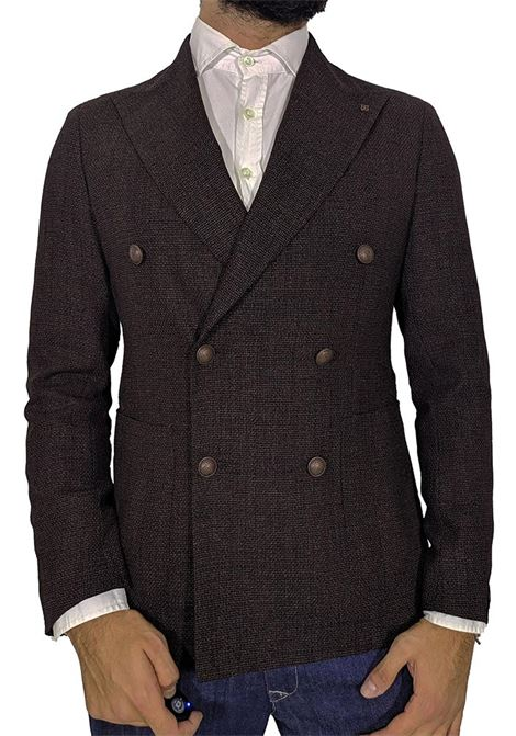 Tagliatore brown double-breasted blazer TAGLIATORE | Blazers | 97UIG183M3081