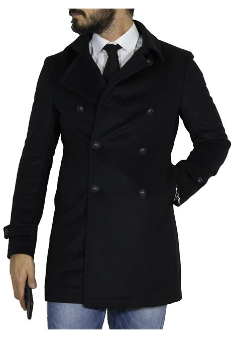 Black Charlie double-breasted Tagliatore coat TAGLIATORE | Coats | A5UIC042N657