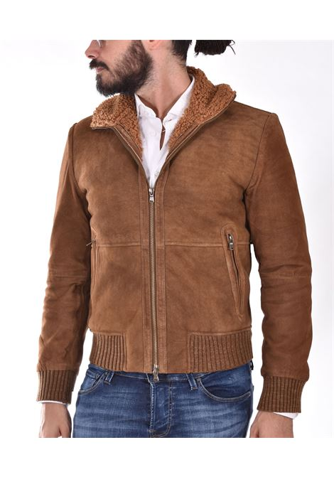 D'amico jacket in burnt suede lenox sheepskin ANDREA D'AMICO | 0411467