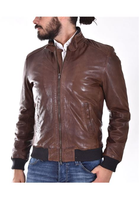 D'amico brown leather jacket new freddy ANDREA D'AMICO | DGU040701