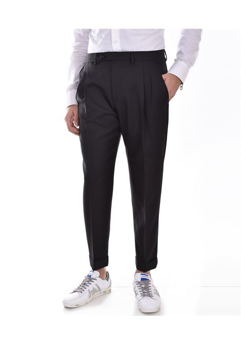Be Able Robert trousers in black virgin wool BE ABLE | WMECOW2101