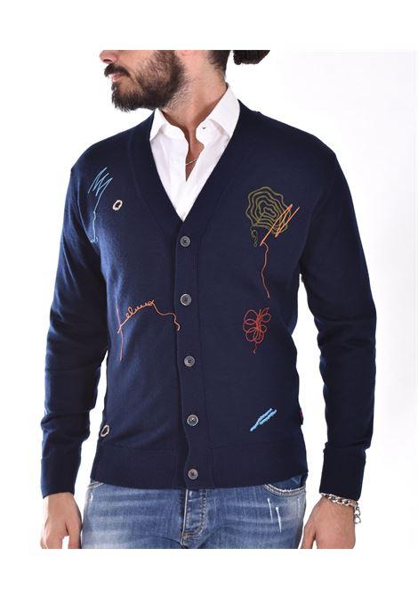 BoB blue stitching cardigan dice BOB | DICE2201