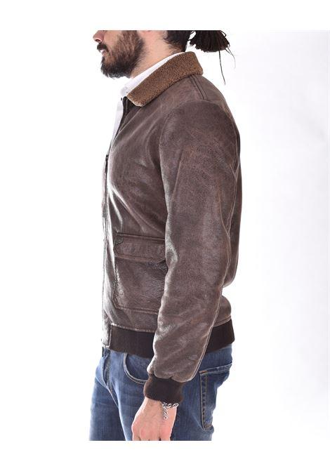 BoB brown faux leather jacket shet450 BOB | SHET45002