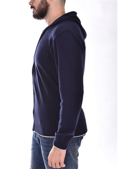 Maglia Daniele Fiesoli zip cappuccio blu DANIELE FIESOLI | 0035Z24