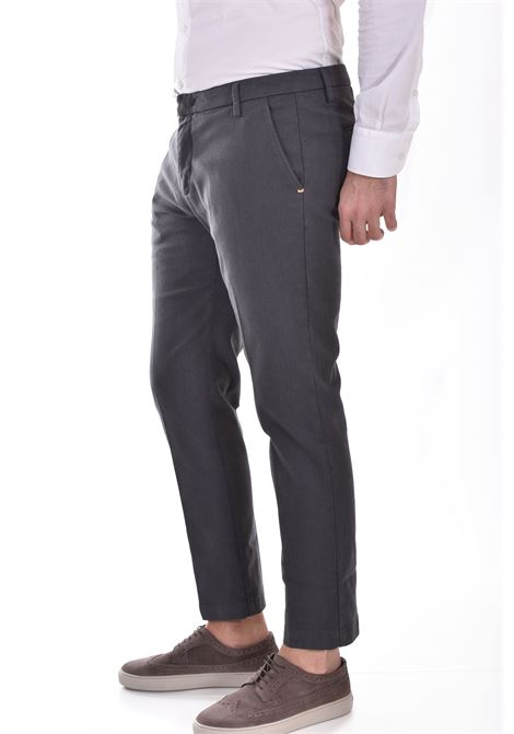 Entre Amis gray micro-patterned trousers ENTRE AMIS | 81882069L1701