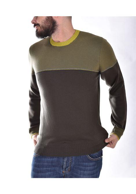 Maglia Gran Sasso merinos extrafine beige verde GRAN SASSO | 2316214226488