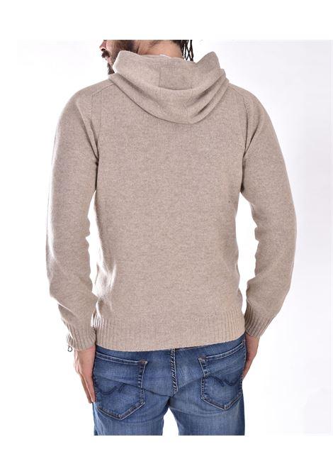 Gran Sasso beige hooded sweater GRAN SASSO   2412225024010