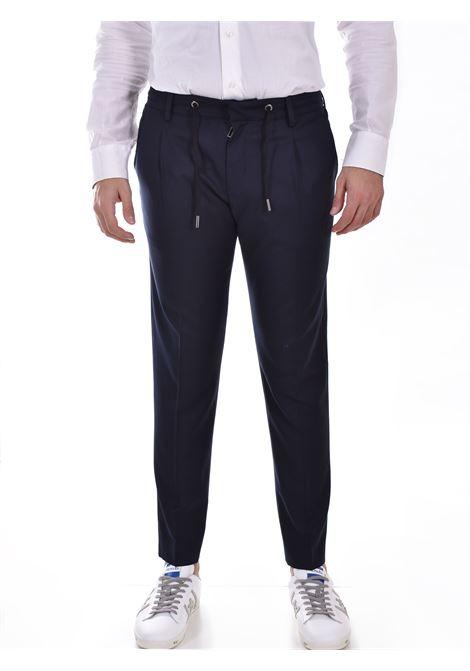 Hosio blue drawstring chinos trousers HOSIO | 21400P2040