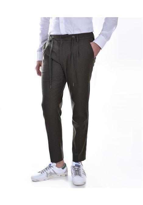 Green drawstring Hosio chinos trousers HOSIO | 2140146
