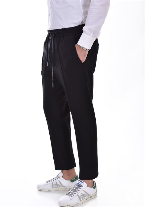 Hosio black ribbed jogging trousers HOSIO | 21405P8001