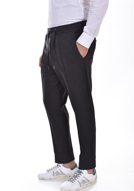 Hosio jogging trousers with gray ribbing HOSIO | 21405P8036