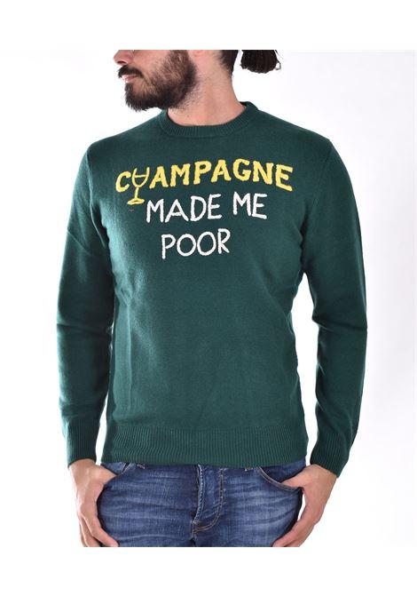 MC2 champagne poor green sweater MC2 SAINT BARTH | ECPO51