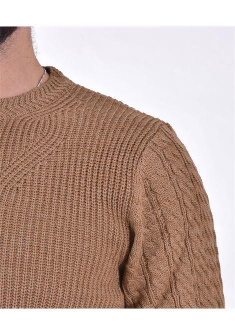 Officina 36 camel crew neck sweater OFFICINA 36 | CUFR30302