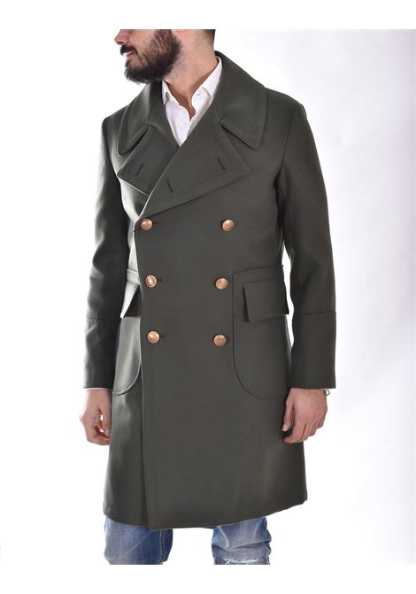 Cappotto Outfit Italy doppiopetto verde militare OUTFIT ITALY | K001131