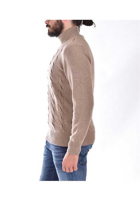 Mdllatre beige cropped turtleneck sweater TAGLIATORE | MDLLATRE21