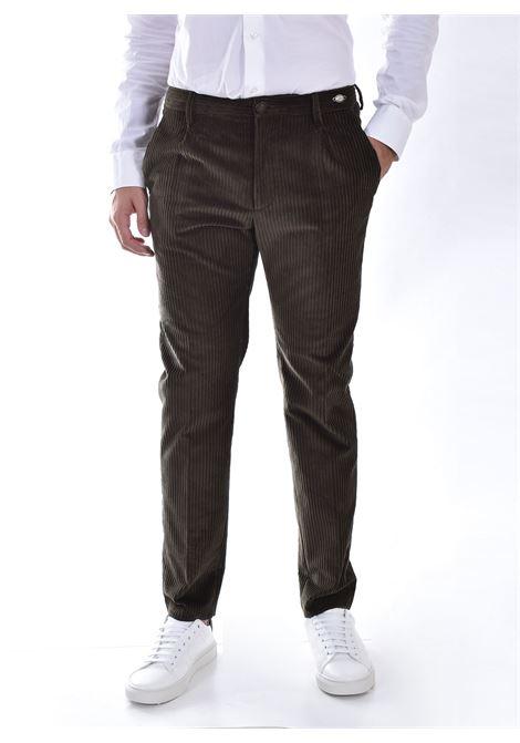 Pantalone Tagliatore velluto marrone P Depp TAGLIATORE | P-DEPP11V1273