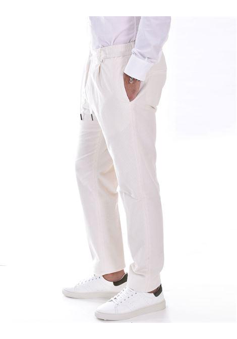 Pantalone Tagliatore bianco velluto P Newman TAGLIATORE | PNEWMAN1258