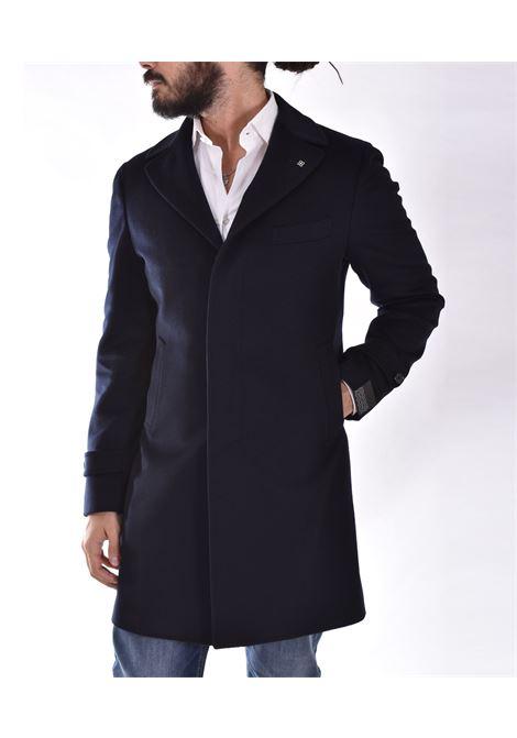 Cappotto tagliatore Thomas blu monopetto TAGLIATORE | THOMASB3288