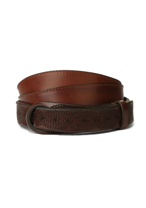 Orciani belts leather brown Nobuckle bull soft ORCIANI | Belts | NB00541