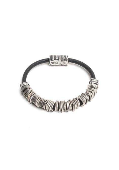 Silver leather bracelet ANDREA D'AMICO | Bracelets | SAU02611