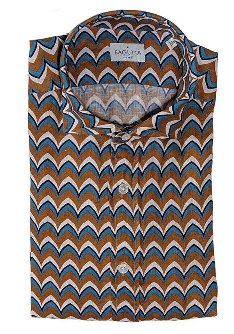 Andrea linen men's shirt BAGUTTA | Shirts | 10069670