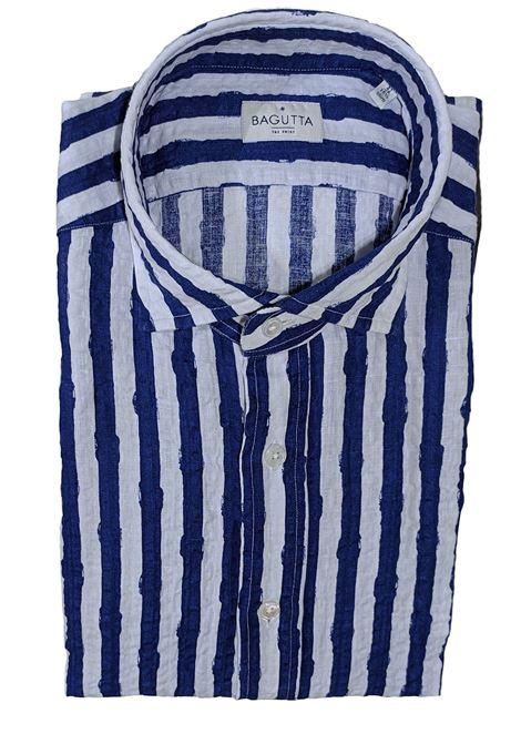 Blue andrea ebl linen shirt BAGUTTA | Shirts | 10073250