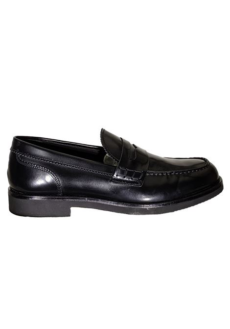 Black leather moccasin BARBATI | Shoes | B036110