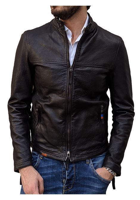 Leather biker jacket Bob green BOB | Jackets | BIKE R0141