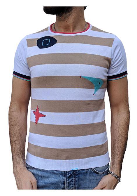 Beige striped knit T-shirt BOB | T-shirts | CRAIG1