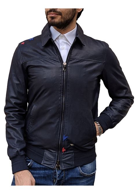 Leather jacket Bob blue BOB | Jackets | FONZIE2