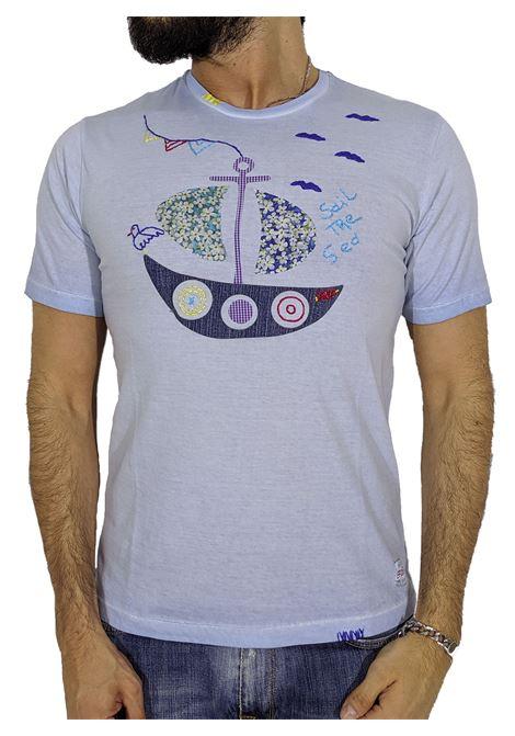 Anchor blue T-shirt BOB | T-shirts | READY R0084