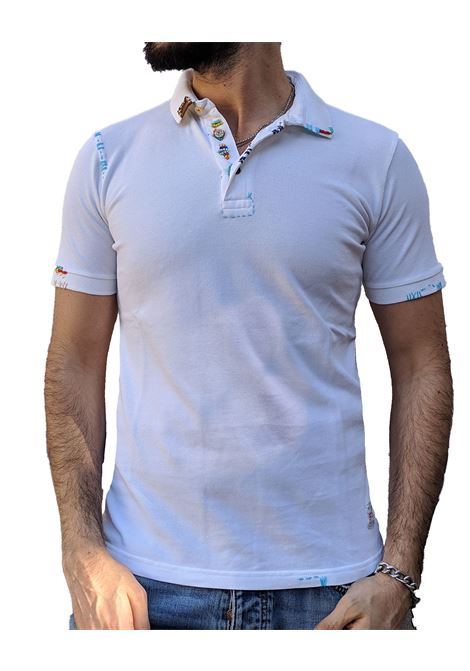 White polo embroidered ricky BOB | Polo | RICKYR0128
