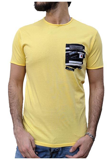 T-shirt yellow sola new DANIELE ALESSANDRINI | T-shirts | M7338E643428