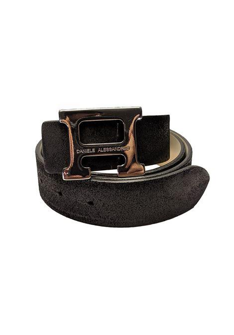 Black suede belt DANIELE ALESSANDRINI | Belts | NL62181