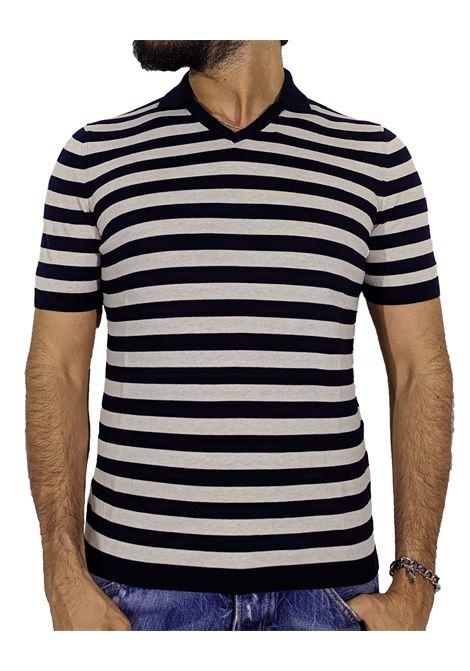 Polo shirt with blue stripes GRAN SASSO | Polo | 57116/20623598