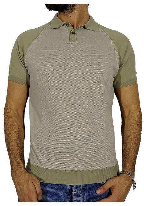 Beige polo shirt sweater GRAN SASSO | Polo | 57133/19003425