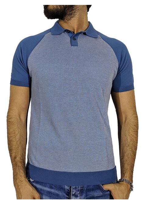Polo organic cotton blu GRAN SASSO | Polo | 57133/19003530