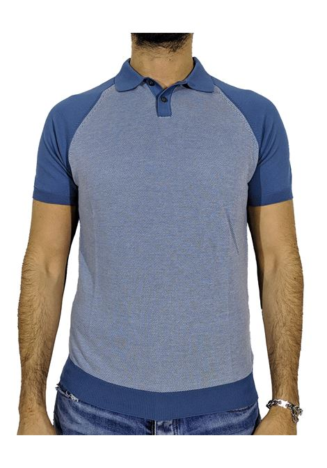 Polo organic cotton blu GRAN SASSO | Polo | 57133/19003530