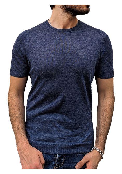 Gran Sasso linen half sleeve sweater GRAN SASSO | T-shirts | 57177/24801590