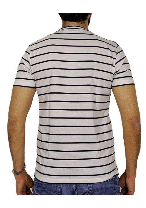 T-shirt righe bianco blu GRAN SASSO   T-shirt   60136/6800005