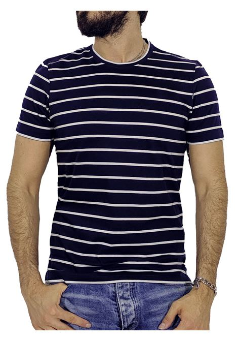 Slim blue striped T-shirt GRAN SASSO | T-shirts | 60136/6800596