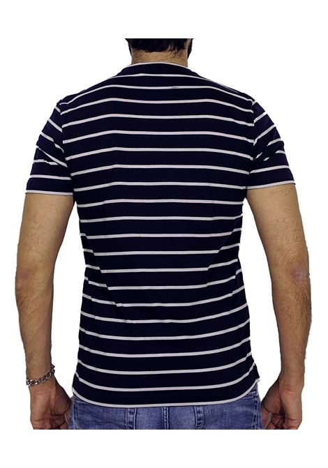 Slim blue striped T-shirt GRAN SASSO   T-shirts   60136/6800596