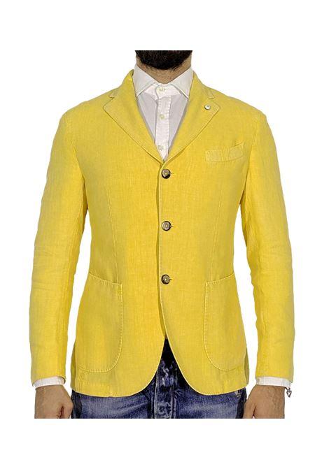 Yellow blazer linen L.B.M. 1911 by Lubiam | Blazers | 5833/28375