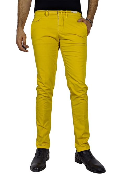 Slim trousers mustard color L.B.M. 1911 by Lubiam | Trousers | 5864/847605