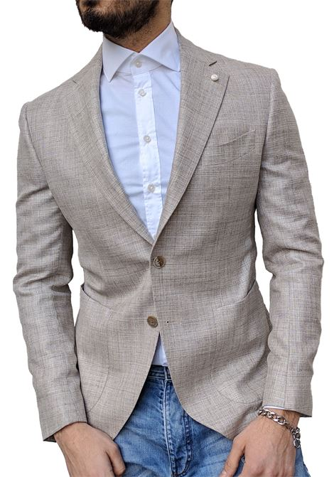 Luigi Bianchi Mantova blazer silk and linen Luigi Bianchi Mantova by Lubiam | Blazers | 2533/23221