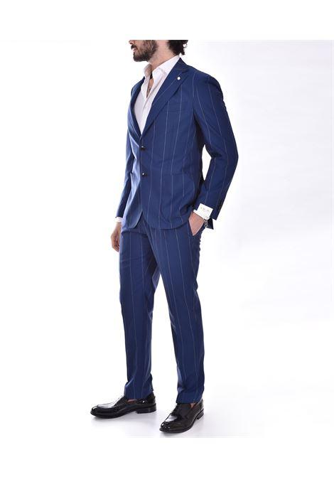 Luigi Bianchi Mantova blue pinstripe suit Luigi Bianchi Mantova by Lubiam | 4019/34013