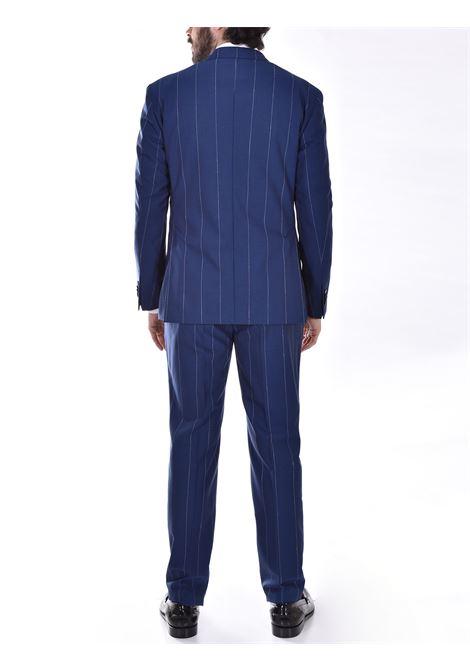 Luigi Bianchi Mantova blue pinstripe suit Luigi Bianchi Mantova by Lubiam   Dresses   4019/34013