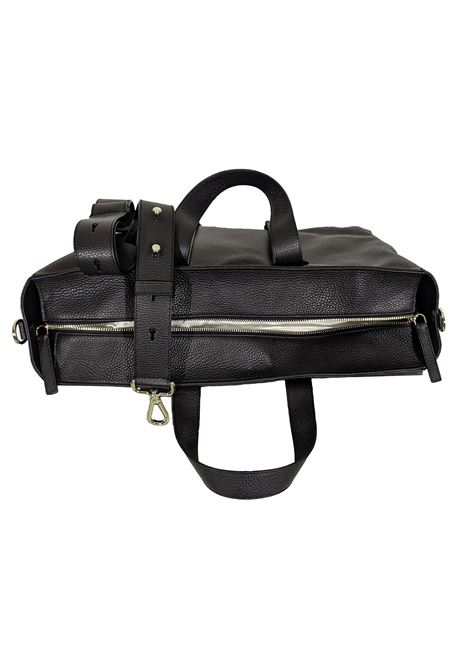Micron black leather work bag ORCIANI   Bags   P0069999