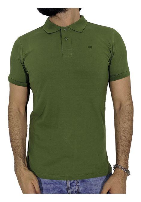 Military green slim polo POLITA | Polo | BASIC-2050